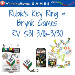 Rubik's Key Ring & The New Brynk Game from Winning Moves + Giveaway