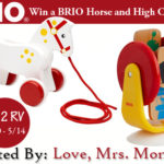 BRIO Horse and High Chair Toy Giveaway! ($52 RV)