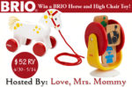 BRIO Horse and High Chair Toy Giveaway