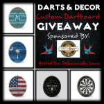Darts & Decor Custom Dartboard Giveaway
