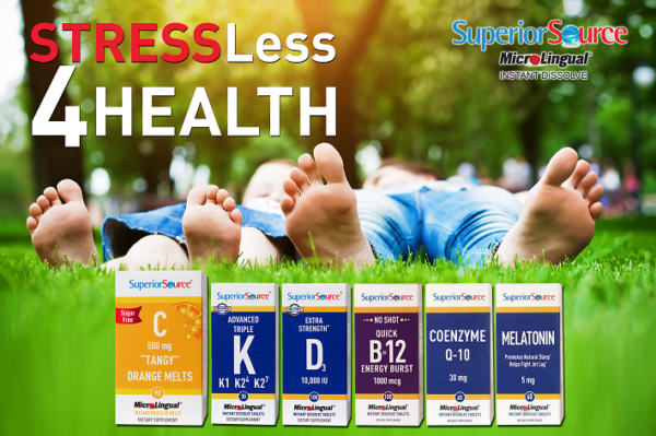 STRESS-Less 4 Health this April with a Vitamin 6-Pack from Superior Source Vitamins + Giveaway