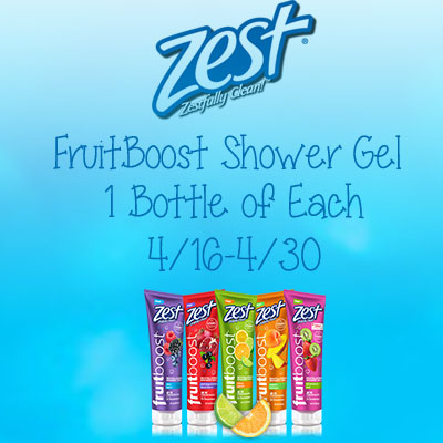 Zest FruitBoost Shower Gel Giveaway
