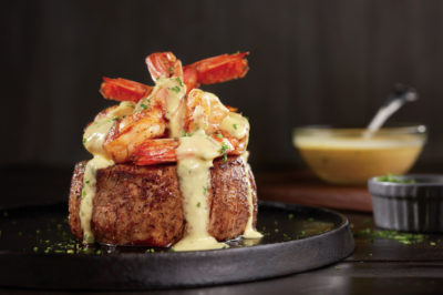 Outback Bearnaise topped Filet