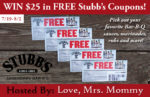 $25 Stubb's BBQ Coupons Giveaway