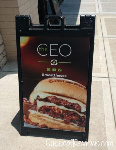 CEO Burger Sign