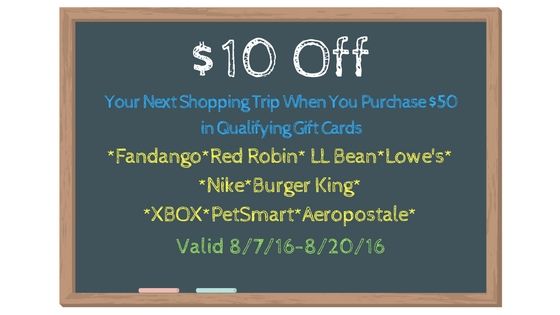 $10 Off Your Next Order at Food Lion When You Purchase $50 in Qualifying Gift Cards + $100 Amazon Gift Card Giveaway