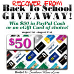$50 Recover From Back To School Giveaway