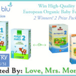 Baby Blu Organics Baby Formula Giveaway! 2 Winners / 2 Prize Packs – $116 TRV