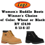 Lugz Huddle Womens Boots Giveaway