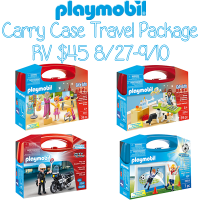 playmobil Carry Case Travel Package Giveaway. Ends 9/10