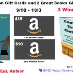 2 Amazon Gift Card & 2 Great Books Giveaway