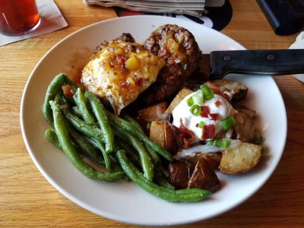 Applebee's smokin double steak and egg