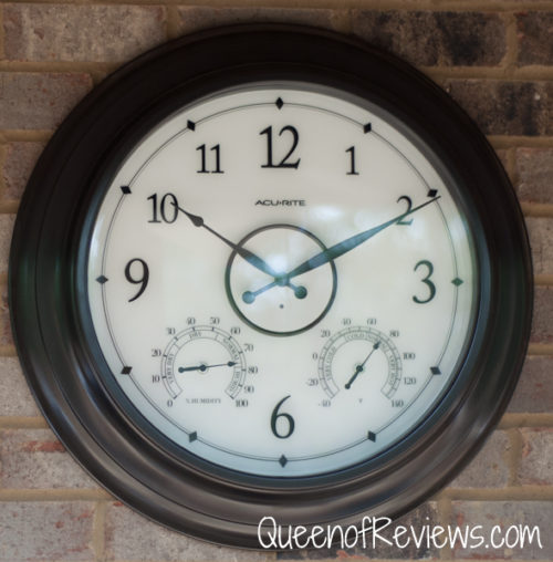 Beautiful 24 Inch Illuminated Outdoor Clock With