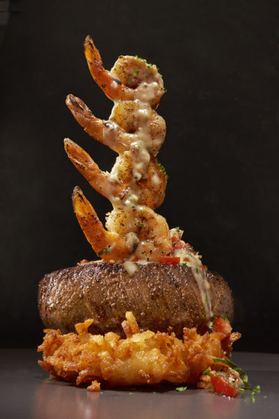 Shrimp Sirloin Tower