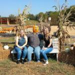 Hannah and Madison with Pumpkin at Shuckles