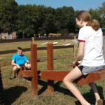 Ethan and Phoebe on Seesaw at Shuckles