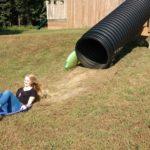 Madison on slide at Shuckles