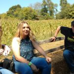 Hannah and Madison on Hayride at Shuckles