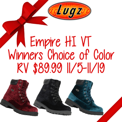 Lugz Empire HI VT Boots Giveaway. Ends 11/19