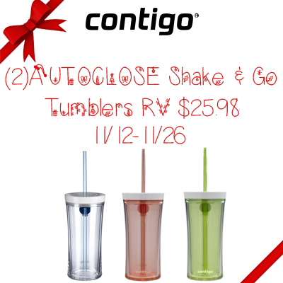 Contigo AUTOCLOSE Shake & Go Tumbler Giveaway