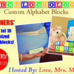 3 Winners! ABC Blockology Customized Wooden Block Set Giveaway! $75 TRV