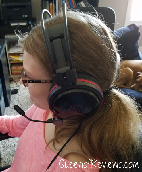 Phoebe Using Audio Technica ATH-AG1x High-Fidelity Gaming Headset