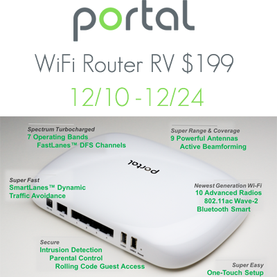 Portal WiFi Router Giveaway. Ends 12/24