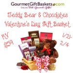 Teddy Bear & Chocolates Valentine's Day Gift Basket Giveaway