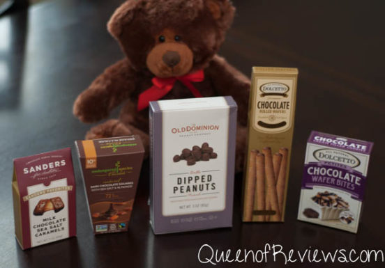 Teddy Bear & Chocolates Gift Basket Contents 2