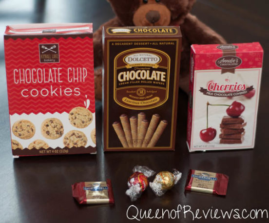 Teddy Bear & Chocolates Gift Basket Contents