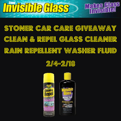 Stoner Car Care Products Giveaway. Ends 2/18