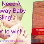 Mamaway Baby Sling Baby Carrier Giveaway