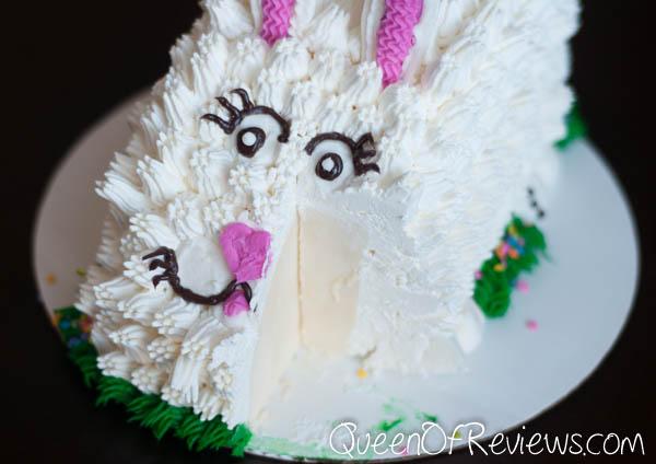 Fluffy Bunny Cake Cut