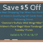Save $5 at Food Lion When You Purchase $25 or More in Qualifying Gift Cards