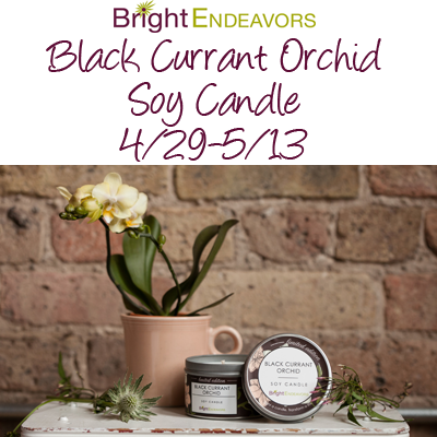 Bright Endeavors Black Currant Orchid Candle Giveaway