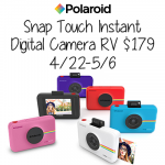 Snap, Print, and Share All of Your Favorite Photos Instantly with the New Polaroid Snap Touch Instant Digital Camera + Giveaway