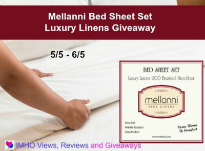 Mellanni Bed Sheet Set  Luxury Linens Giveaway