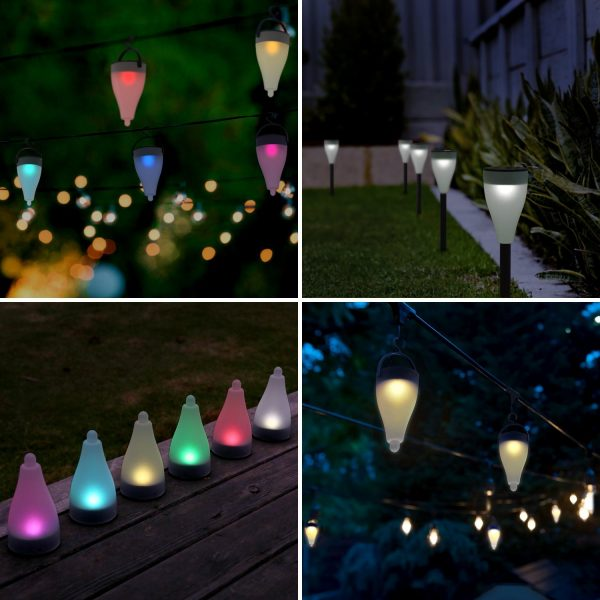Aglaia color changing outdoor solar lights queen of reviews aglaia color changing outdoor solar lights are very versatile we have had many sets of solar lights in the past most cost well over 100 for a set and aloadofball Gallery