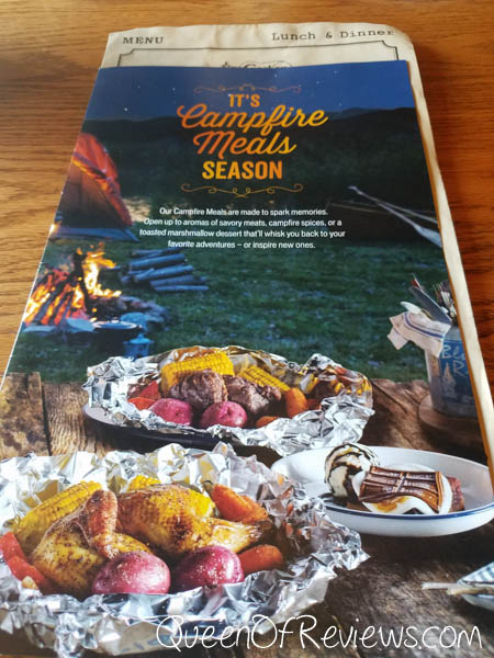 Cracker Barrel Campfire Season Menu