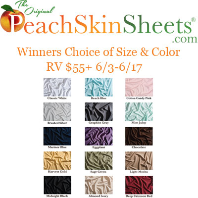 PeachSkinSheets Fathers Day 2017 Giveaway
