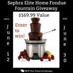 Sephra Elite Home Fondue Fountain Giveaway