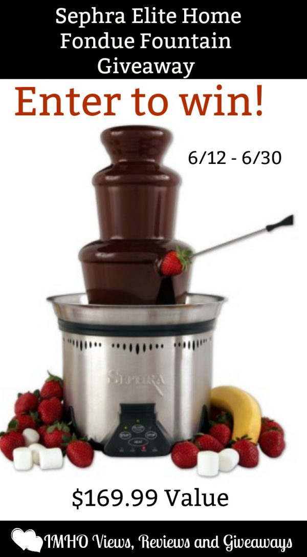 Sephra-Elite-Home-Fondue-Fountain-Giveaway-ends-6-30-pinterest
