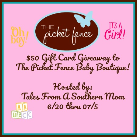The Picket Fence Baby Boutique $50 Gift Card Giveaway