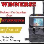 Motorishy Backseat Car Organizer Giveaway