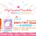 10 Winners! My Creative Mandalas Moms & Kids Creative Kits Giveaway! $347+ TRV!