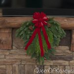 "25"" Holiday Swag Fireplace"