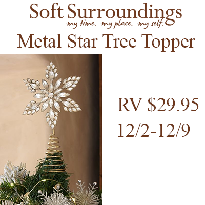 Soft Surroundings Holiday 2017 Giveaway - the history of the star tree topper and giveaway