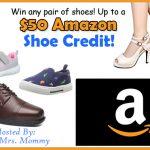 $50 Amazon Shoe Credit Giveaway