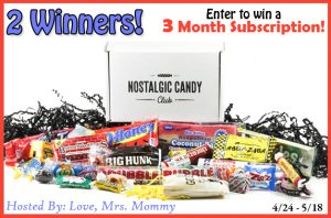 3-Month Subscription to Nostalgic Candy Club Giveaway! 2 Winners!