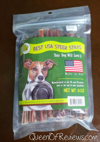 Pet Magasin All Natural USA Steer Stick Treats for Dogs,